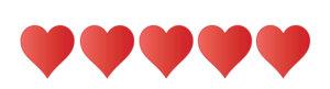 5 Herzen