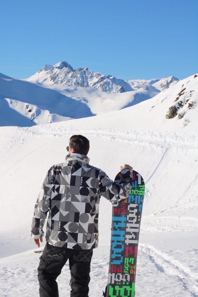Snowboard Skifahren Golm