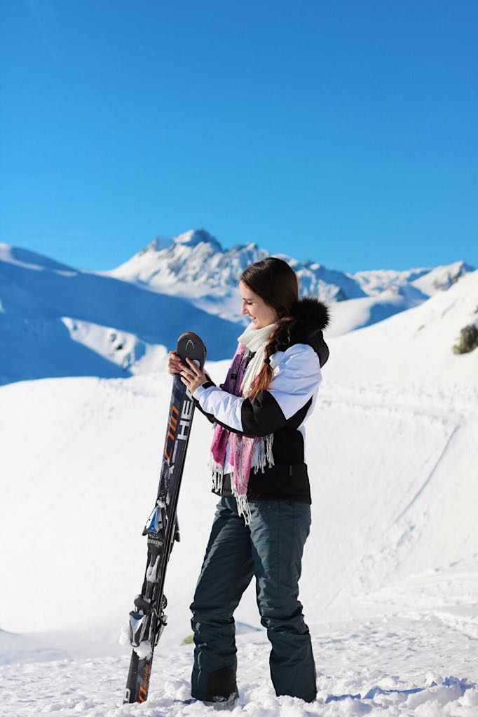 Skifahren am Golm