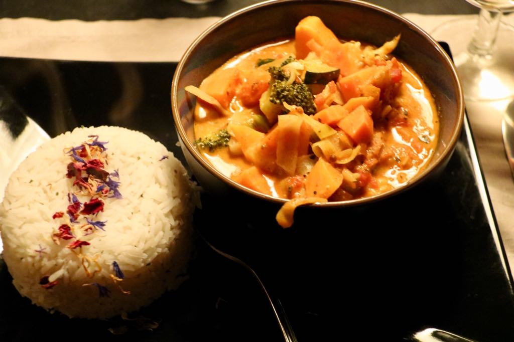 Gemüse mit Reis Gasthaus Kreuz in Schruns
