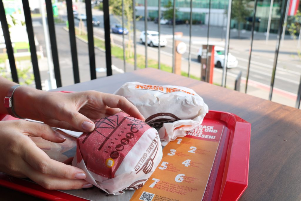 Burger King Dornbirn  Burger Auswahl
