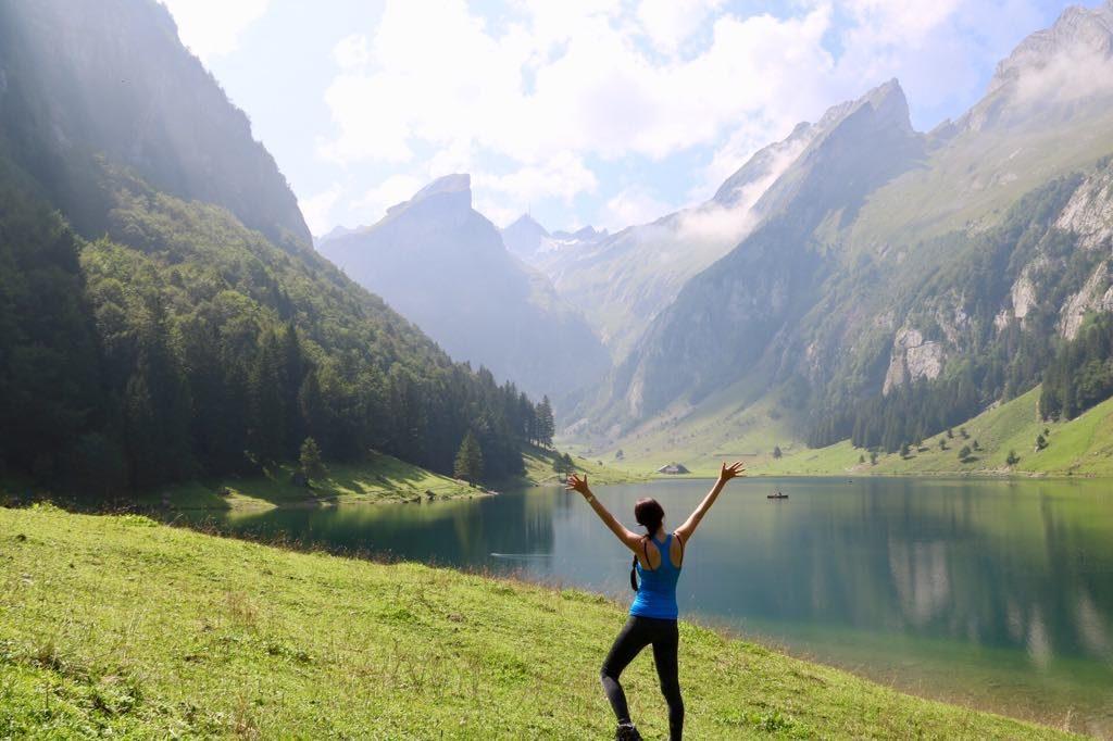 Aussicher Schweizer Berge