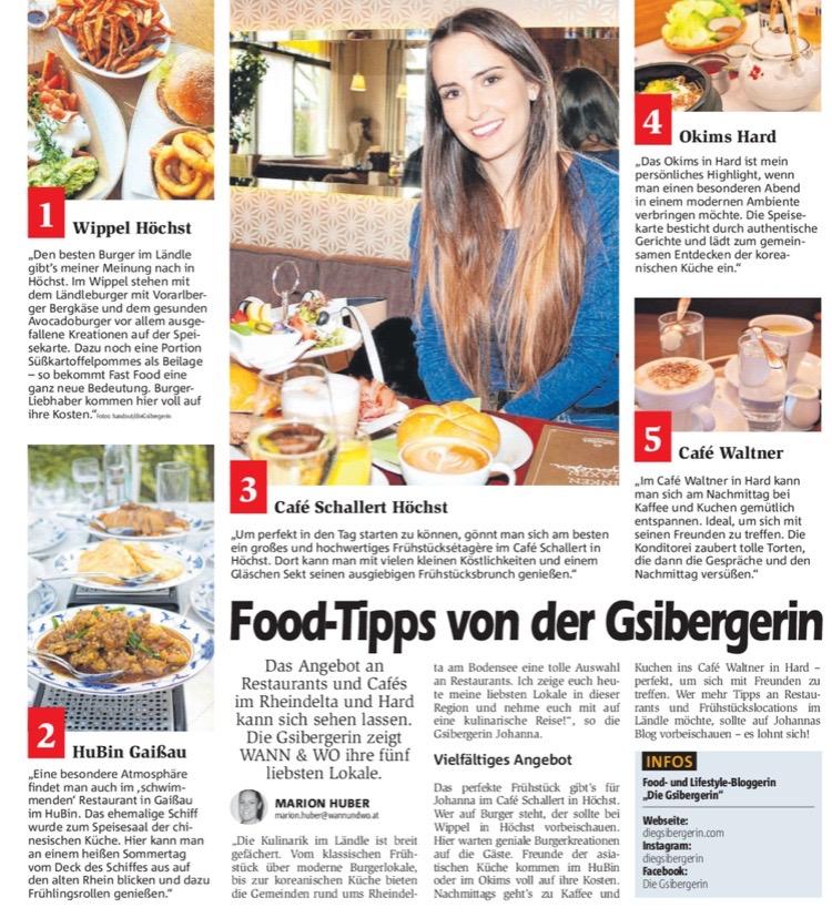 Zeitungsartikel die Gsibergerin