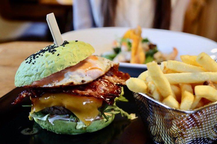 grüner Burger